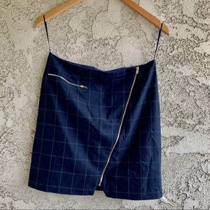 Romeo+Juliet Couture Plaid Zipper Mini Skirt